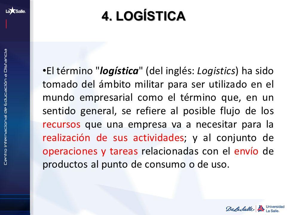 4. LOGÍSTICA