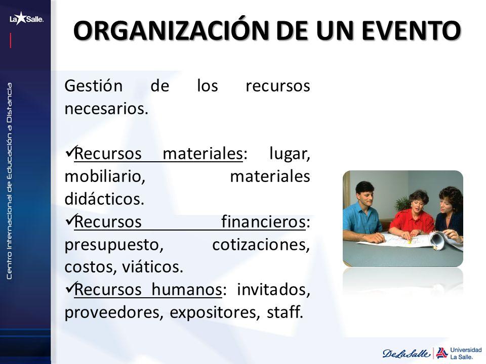 ORGANIZACIÓN DE UN EVENTO
