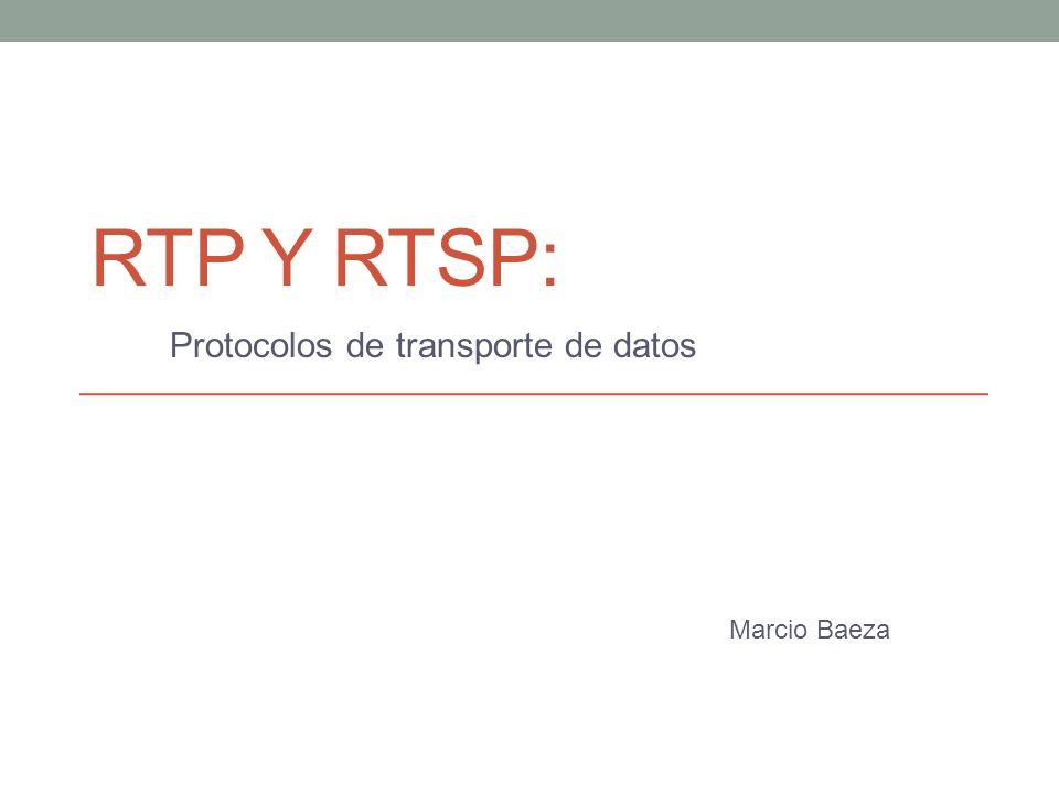 Protocolos de transporte de datos Marcio Baeza