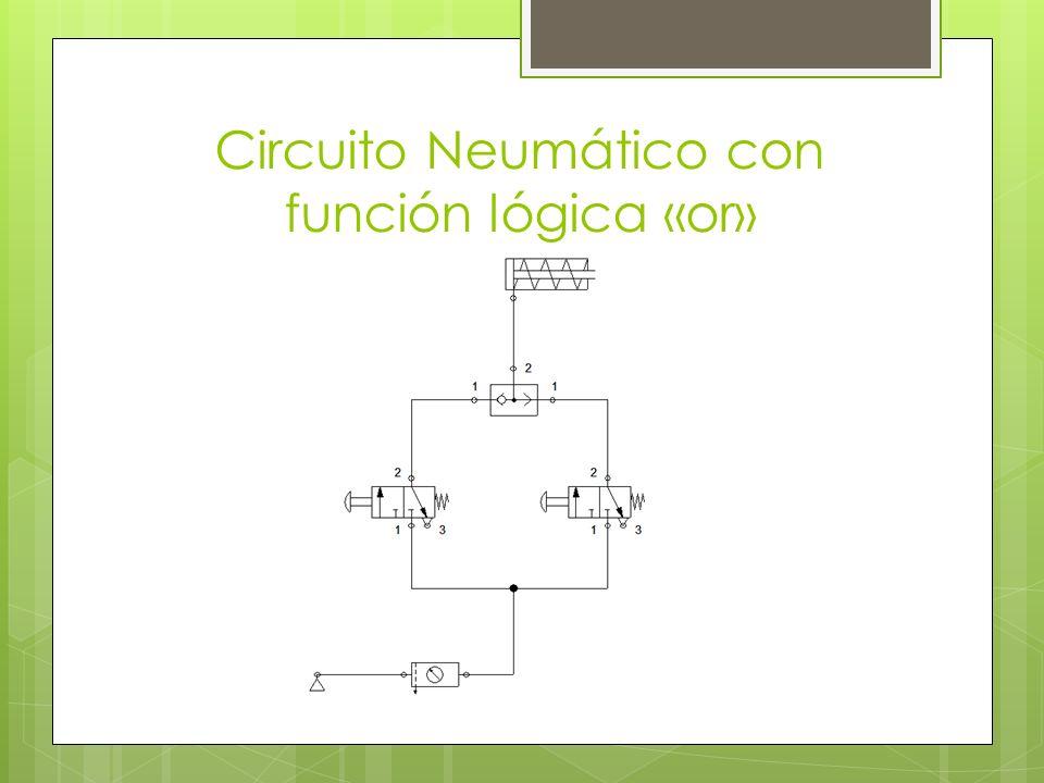Circuito Neumático con función lógica «or»