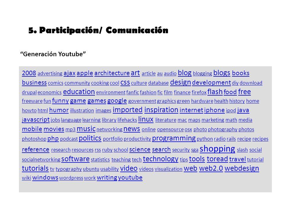 5. Participación/ Comunicación