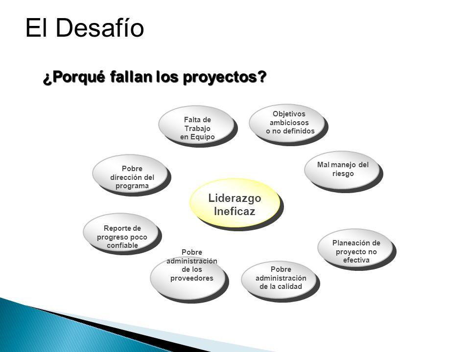 El Desafío ¿Porqué fallan los proyectos Liderazgo Ineficaz