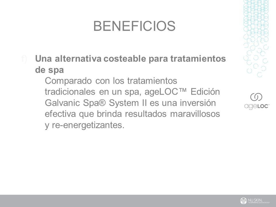 Beneficios Una alternativa costeable para tratamientos de spa