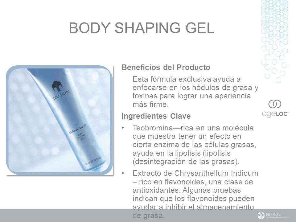 Body Shaping Gel Beneficios del Producto