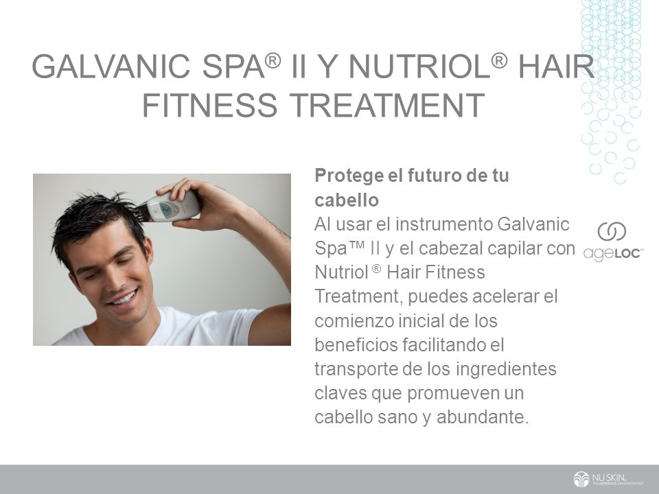Galvanic Spa® II y Nutriol® Hair Fitness Treatment