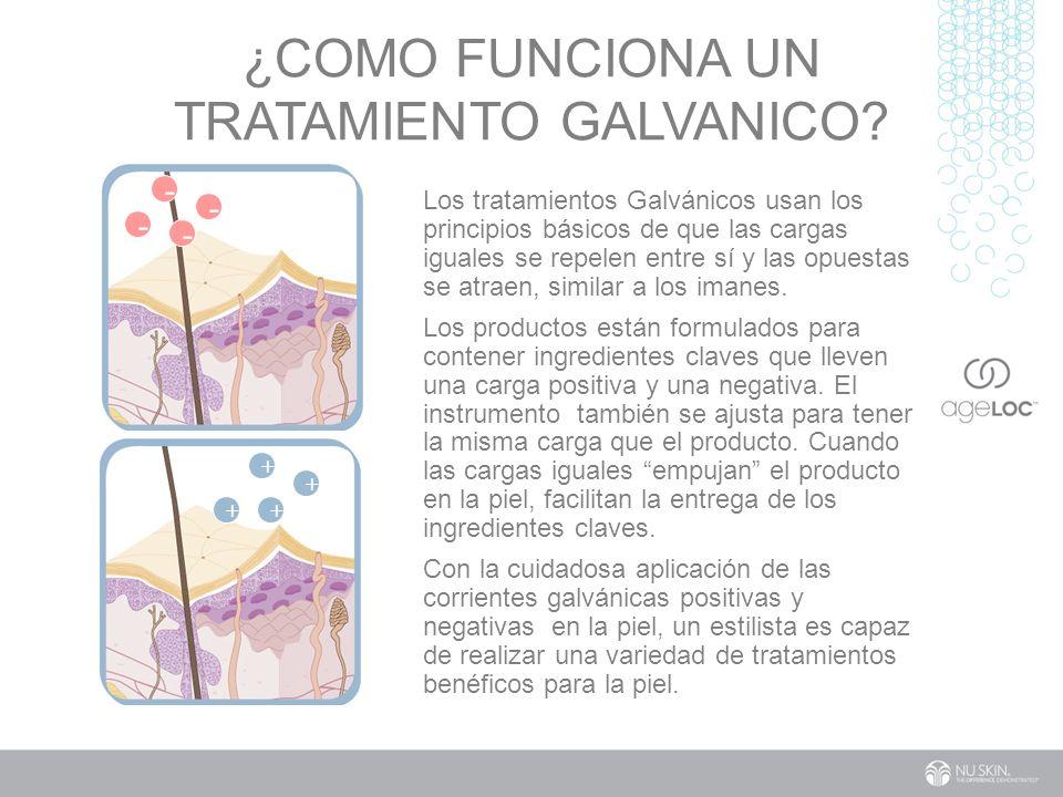 ¿Como funciona un tratamiento galvanico