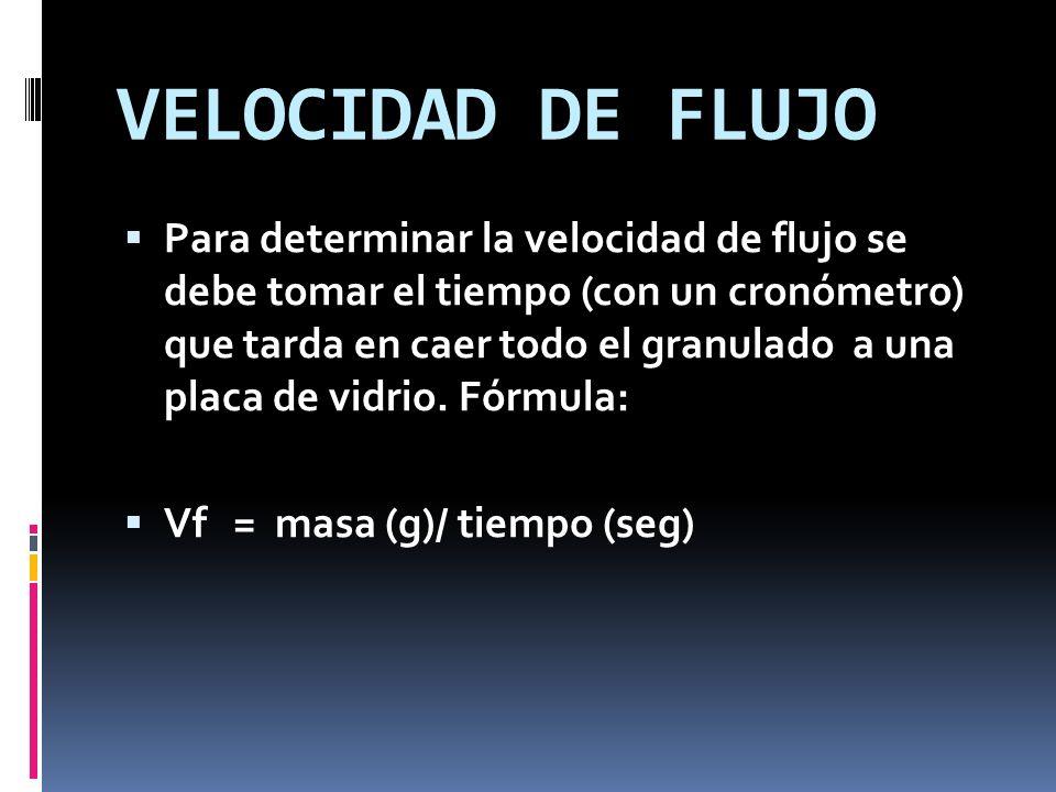 VELOCIDAD DE FLUJO