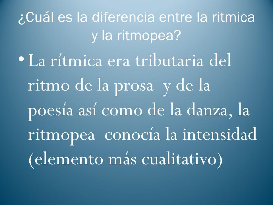 ¿Cuál es la diferencia entre la ritmica y la ritmopea