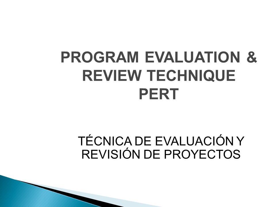 PROGRAM EVALUATION & REVIEW TECHNIQUE PERT