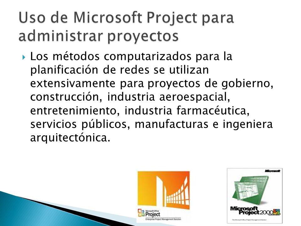 Uso de Microsoft Project para administrar proyectos