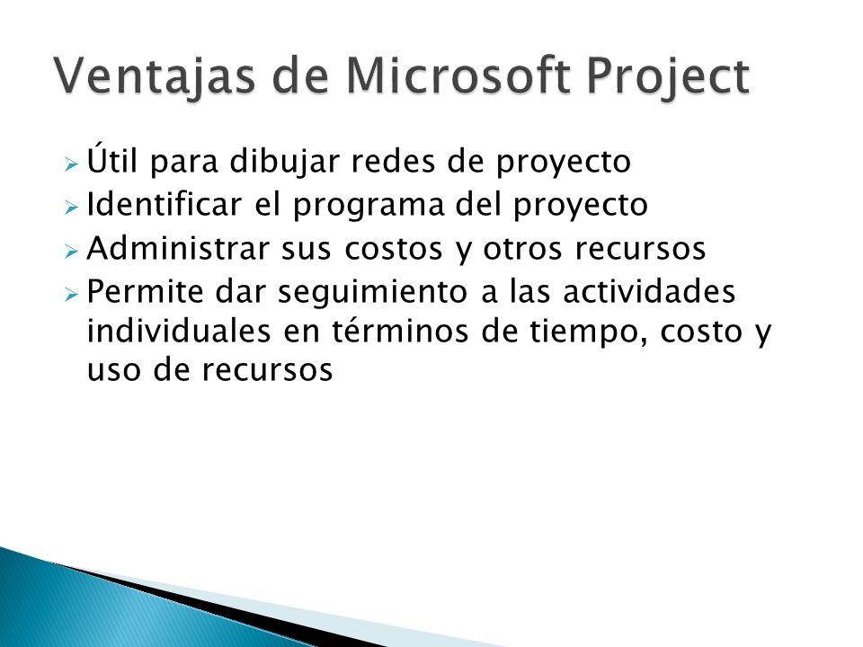 Ventajas de Microsoft Project