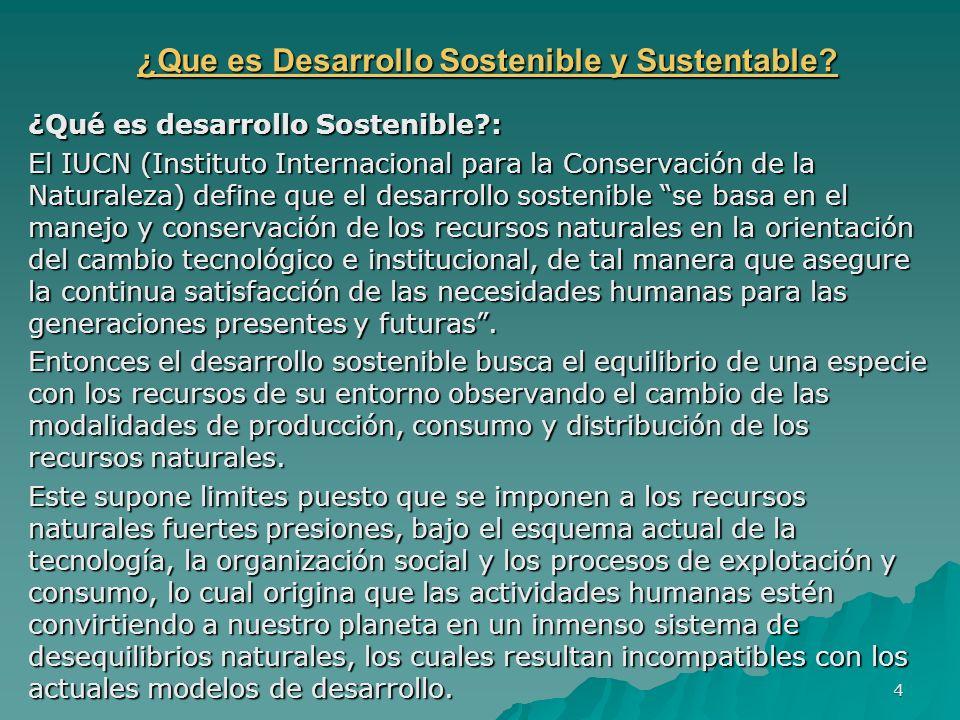¿Que es Desarrollo Sostenible y Sustentable