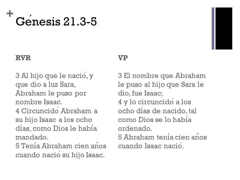 Génesis 21.3-5