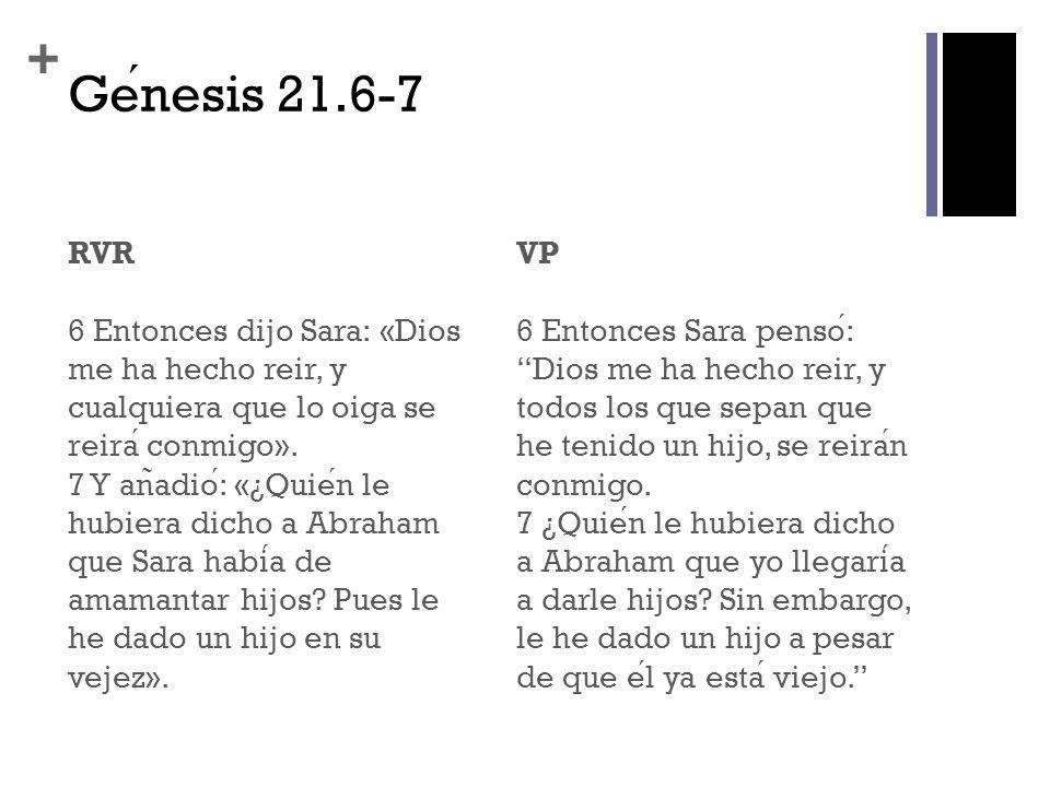 Génesis 21.6-7