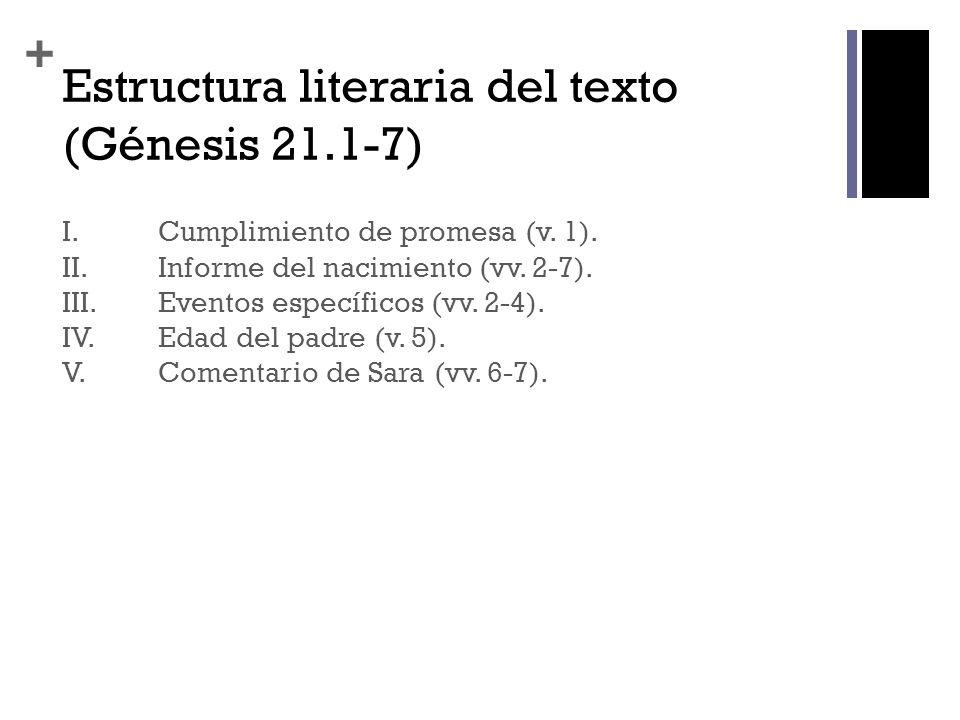 Estructura literaria del texto (Génesis 21.1-7)