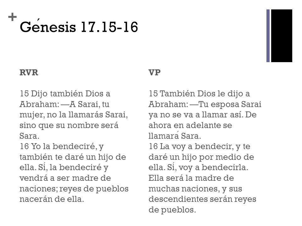 Génesis 17.15-16