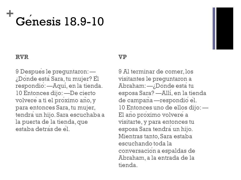 Génesis 18.9-10