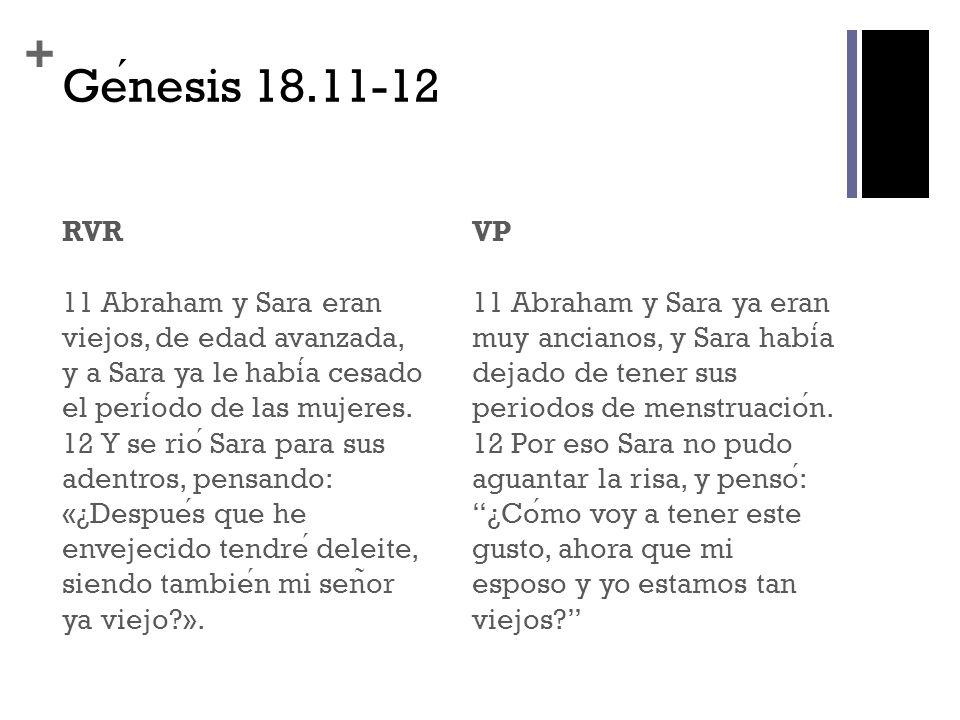 Génesis 18.11-12