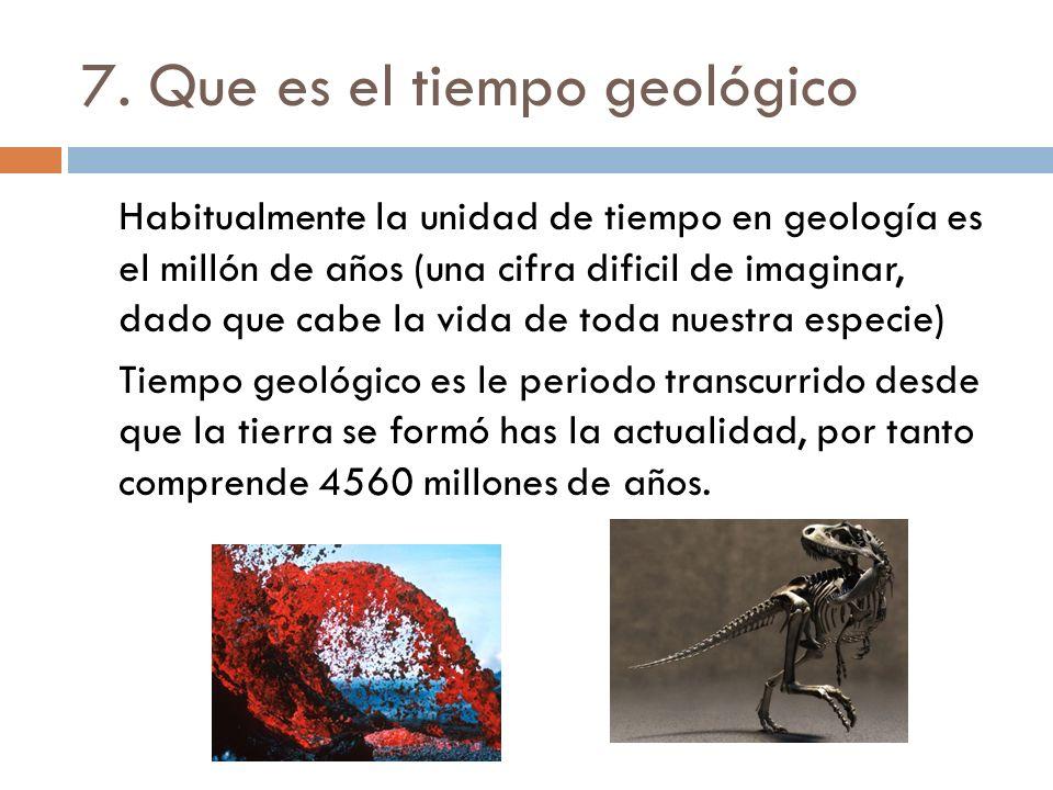 7. Que es el tiempo geológico