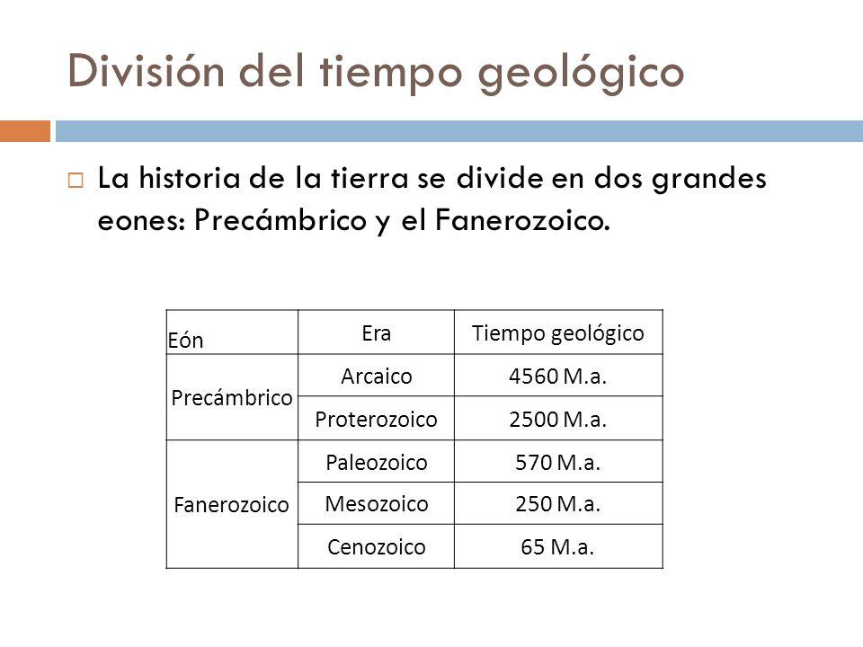División del tiempo geológico