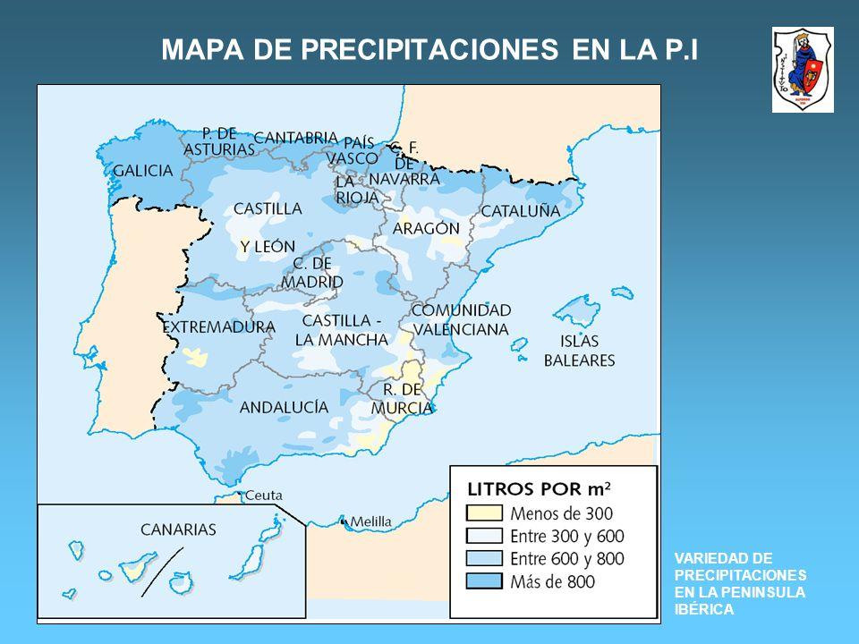 MAPA DE PRECIPITACIONES EN LA P.I