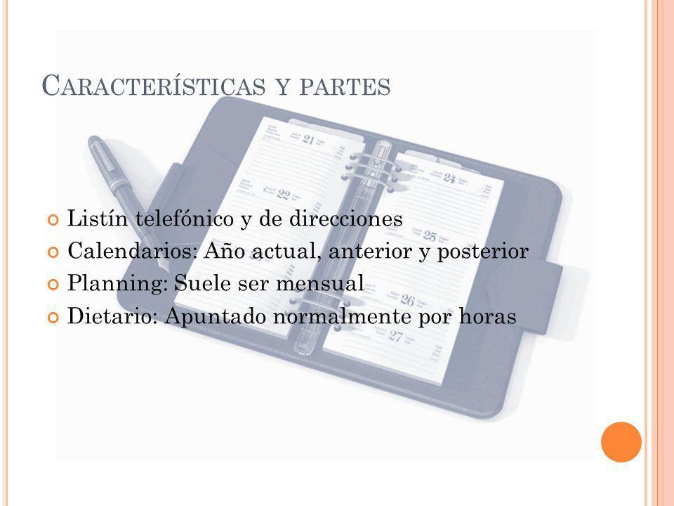 Características y partes