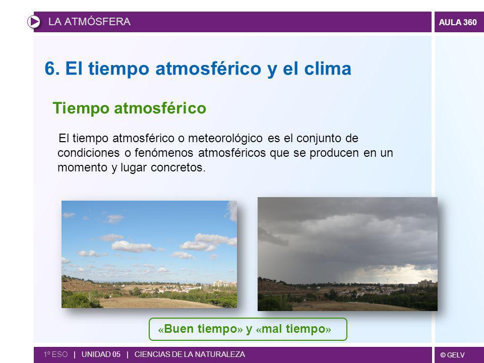 6. El tiempo atmosférico y el clima