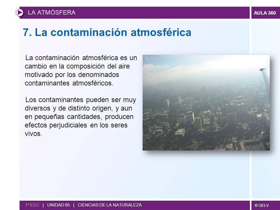 7. La contaminación atmosférica
