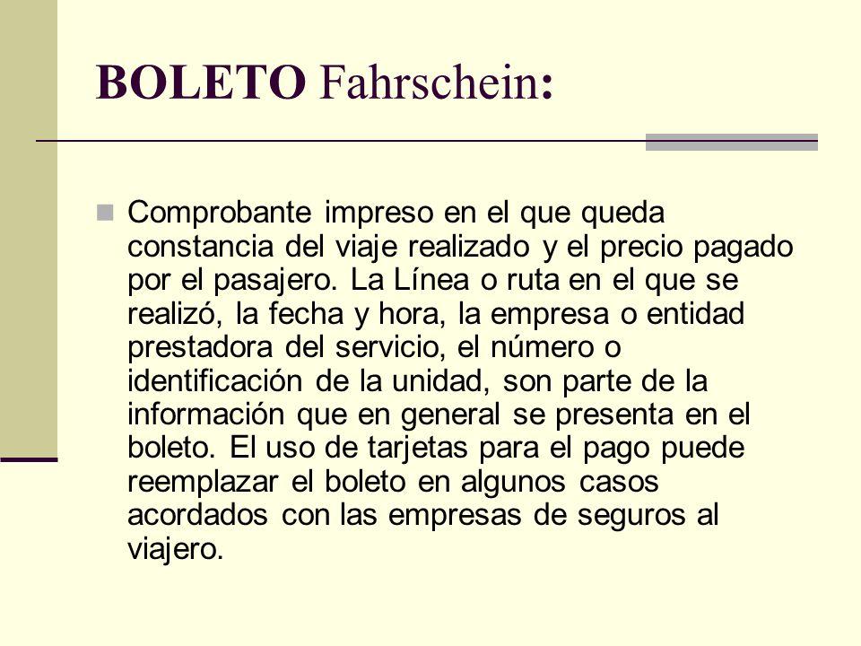 BOLETO Fahrschein: