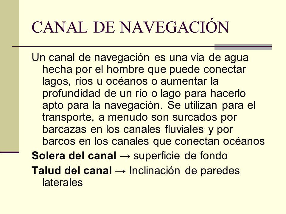 CANAL DE NAVEGACIÓN