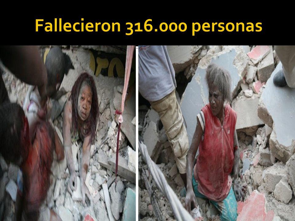 Fallecieron 316.000 personas