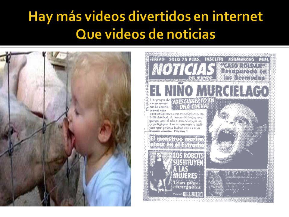 Hay más videos divertidos en internet Que videos de noticias