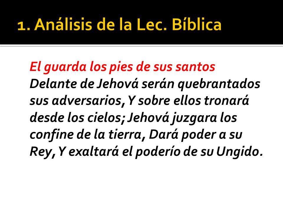 1. Análisis de la Lec. Bíblica
