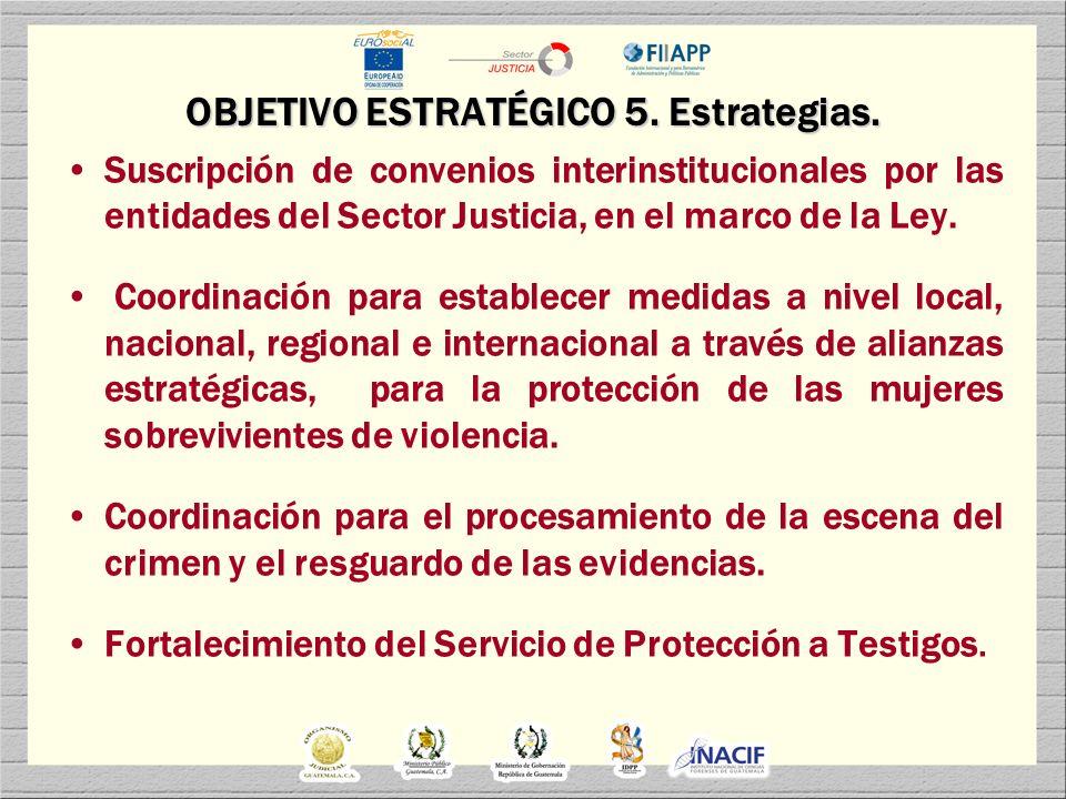 OBJETIVO ESTRATÉGICO 5. Estrategias.
