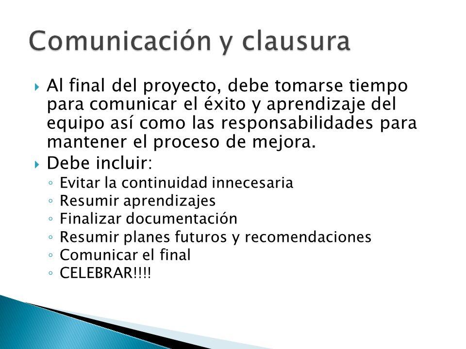 Comunicación y clausura