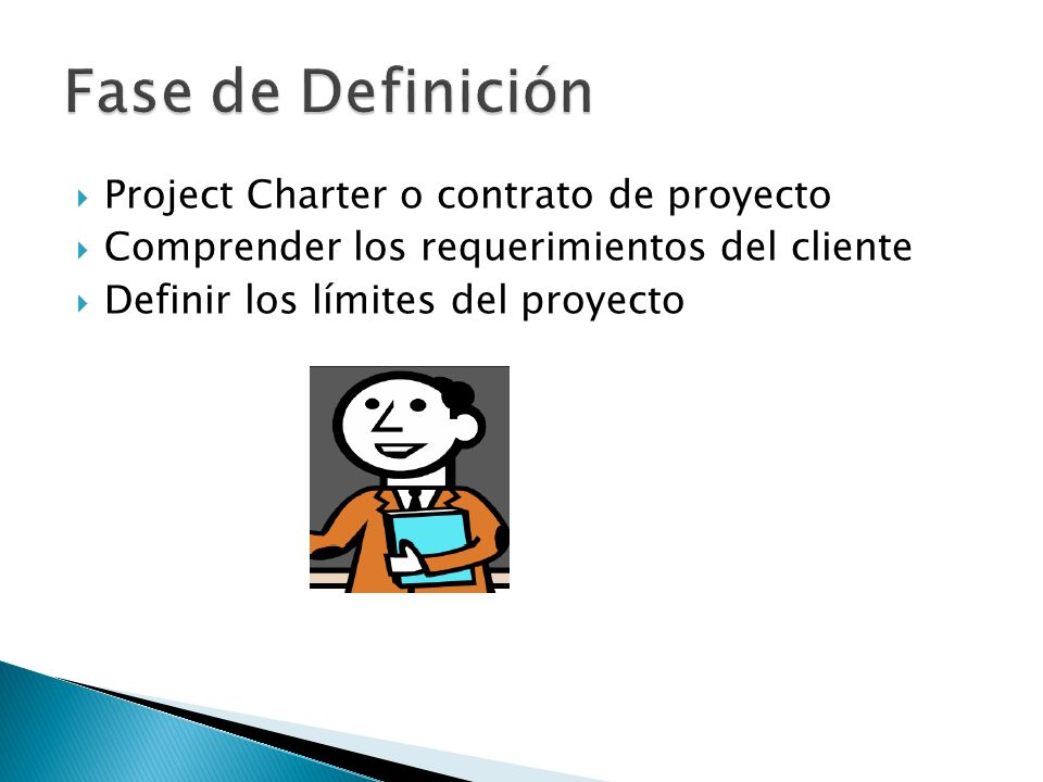 Fase de Definición Project Charter o contrato de proyecto