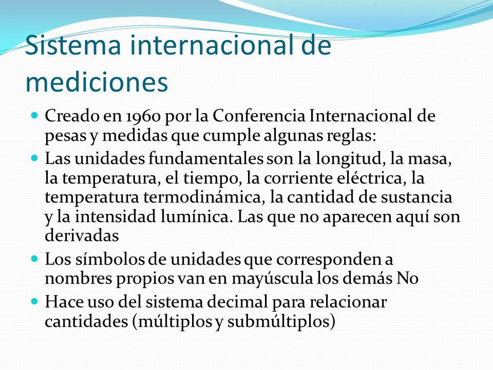 Sistema internacional de mediciones