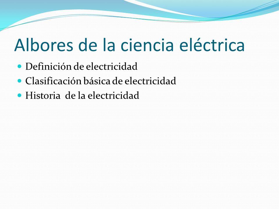 Albores de la ciencia eléctrica