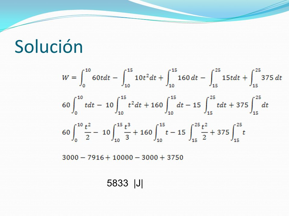 Solución 5833 |J|