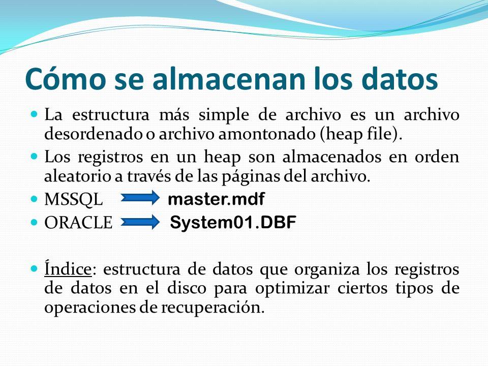 Cómo se almacenan los datos