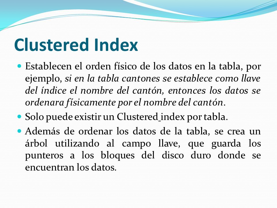 Clustered Index
