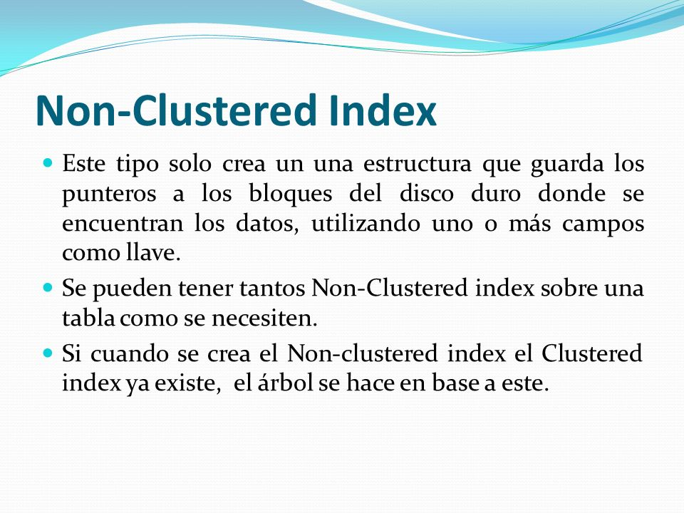 Non-Clustered Index