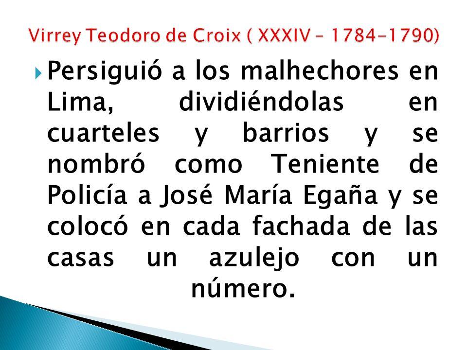 Virrey Teodoro de Croix ( XXXIV – 1784-1790)
