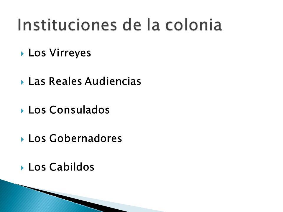 Instituciones de la colonia