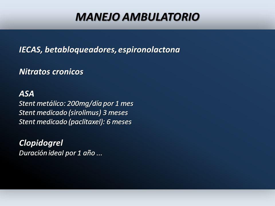 MANEJO AMBULATORIO IECAS, betabloqueadores, espironolactona