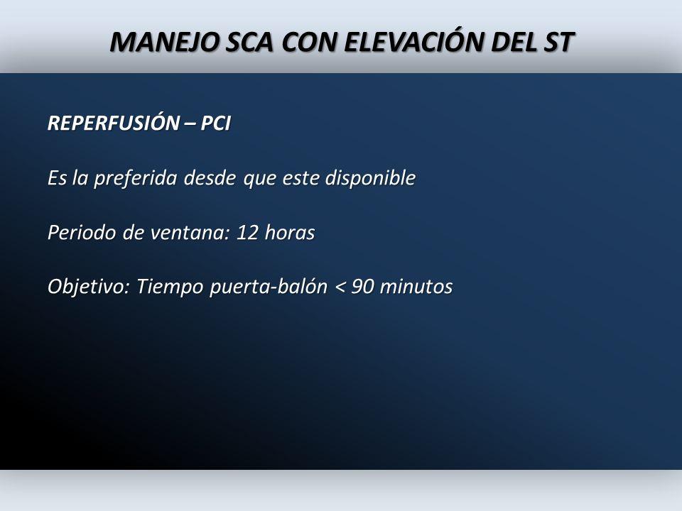 MANEJO SCA CON ELEVACIÓN DEL ST