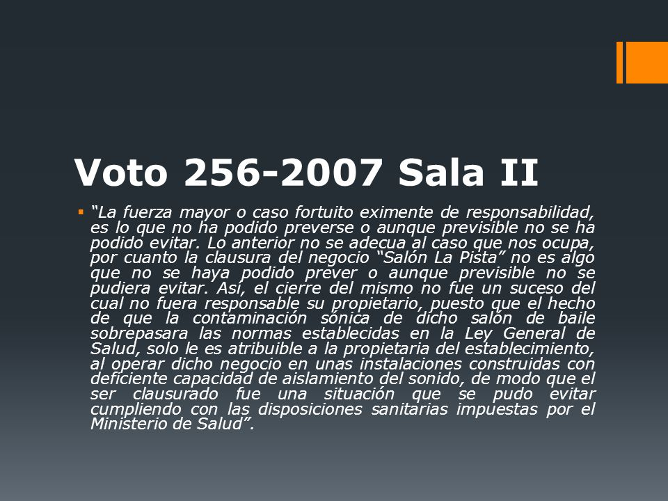 Voto 256-2007 Sala II