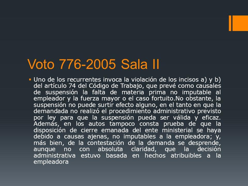 Voto 776-2005 Sala II