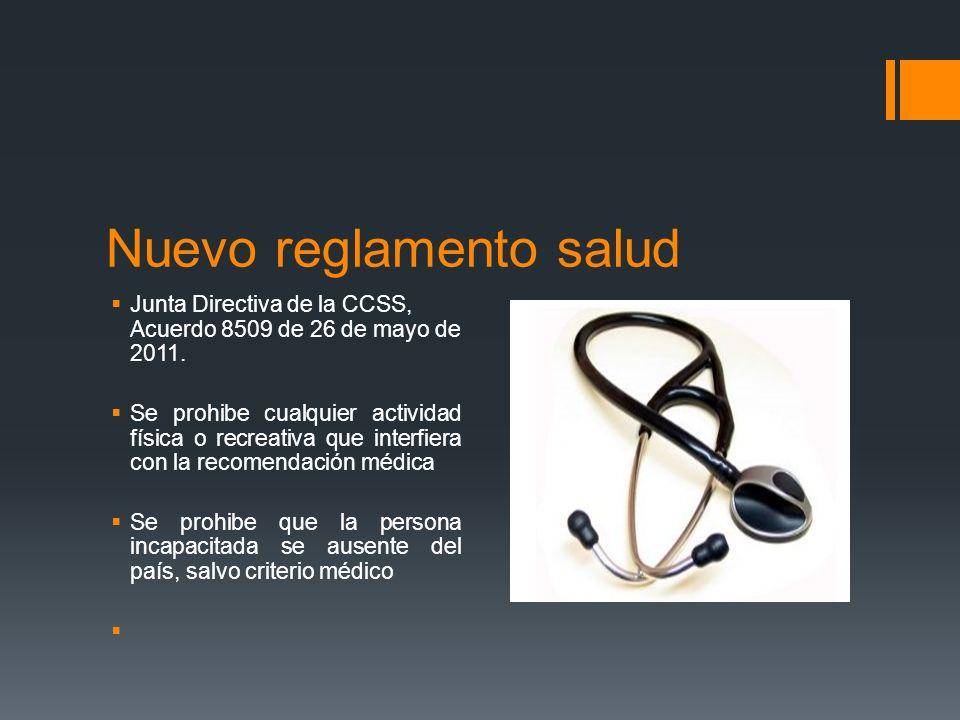 Nuevo reglamento salud