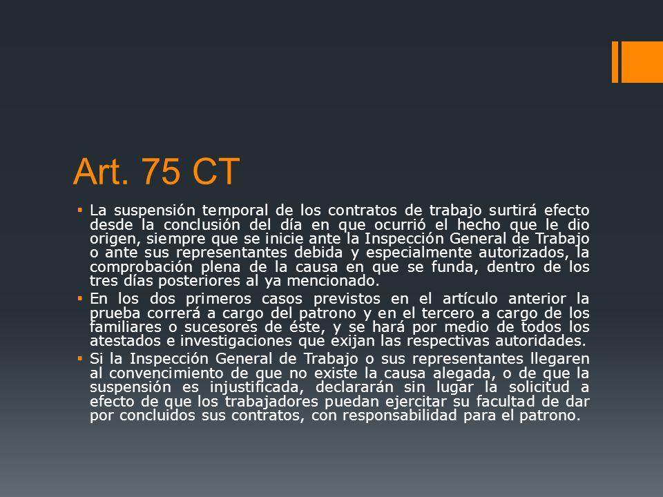 Art. 75 CT